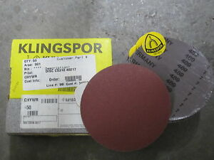 50 New Ea Klingspor 5 Cs310 120x Psa Stick it Sanding Abrasive Discs 303136