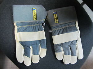 6 Superior 76bftl Winter Endura Thinsulate Lined Leather Fitters Gloves Large