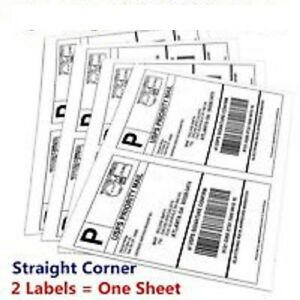300 8 5x5 5 Shipping Mailing Labels Half Sheet Self Adhesive For Ups fedex usps