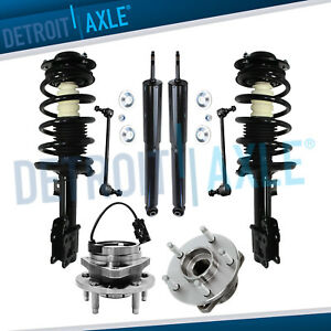 New 8pc Kit Front Quick Struts And Rear Shocks Wheel Hubs And Sway Bar Links