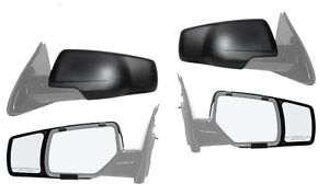 New Snap On Side Towing Mirror Extension Pair For 2015 2016 Chevy Suburban Tahoe