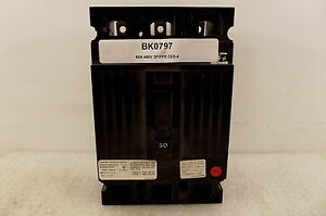 Fpe Federal Pioneer 60a 480v 3p Circuit Breaker Ced Frame Ced134060 Ced 4