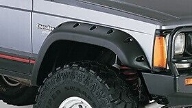 Jeep Cherokee Xj 84 2001 New Abs 8 Pc Fender Flares Pocket Style 5 Wheel Cover