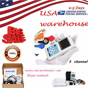 3 Channel Ecg Holter Ecg ekg Holter System portable Monitor 24 Hours Recording