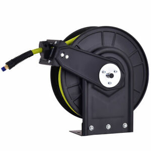 3 8 X 50 Retractable Air Compressor Hose Reel 300psi Auto Rewind New
