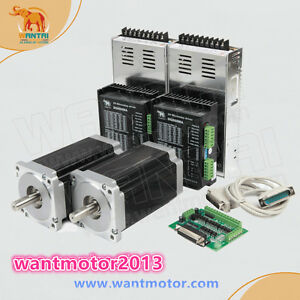 Free Shipping wantai Cnc Kit 2axis Nema34 Stepper Motor 1700oz in 6a