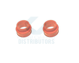 Vw Bug Ghia Bus Dual Port Intake Manifold Boots Set Of 2 Red Silicone pair