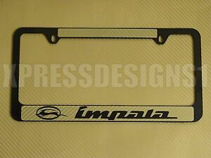 Chevy Impala License Plate Frame Gold Carbon Fiber