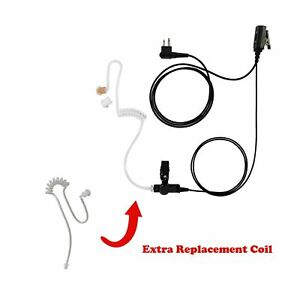 Extra New Coil Tube With 1 wire Surveillance Kit For Hytera Hyt Tc 2110 Tc 700