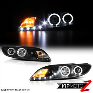 For 03 05 Mazda 6 Mazda6 Sedan Wagon Black Led Halo Ring Drl Projector Headlight