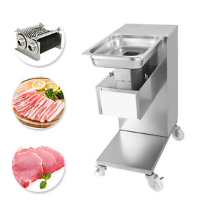 500kg Meat Cutter Slicer 110v Meat Cutting Machine With 2 5 50mm Two Sets Blade