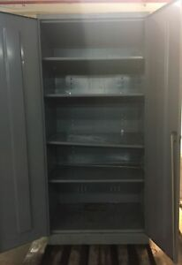 Metal Storage Cabinet With Shelves