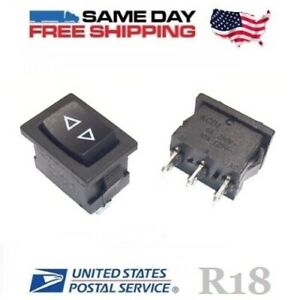 2 X Momentary Spdt Single Pole Double Throw 3 pin on off on Rocker Switches