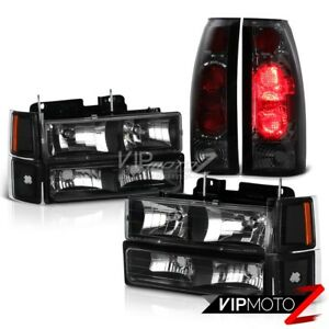Complete Headlight smoke Brake Lamp Tail Light 94 98 Chevy Silverado Suburban