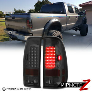Ford 97 03 F150 99 07 F250 F350 F450 Sd Super Duty Truck Smoke Led Tail Lights
