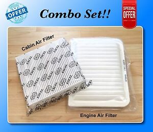 Combo Set For Camry Venza 4 Cyl Engine Cabin Air Filter A5649 C35667 Us Seller