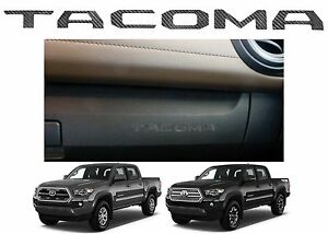 Carbon Fiber Glove Box Dashboard Letter Inserts For 2016 2017 Toyota Tacoma New