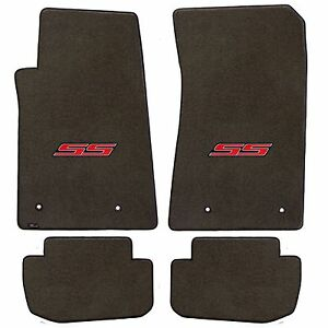 Camaro 2010 4pc Car Floor Mats Carpet Black Ebony Velourtex Ss Logo