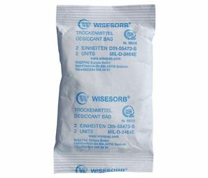 150 Packs Of Wisesorb Mil d 3464e 2 unit Desiccant Bags In Tin