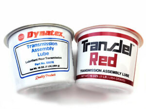 Two Tubs Of Dynatex And Transjel Transmission Assembly Lube One Blue And One Red