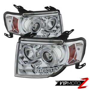 For 08 12 Ford Escape 2wd 4wd Hybird 4x4 Chrome Projector Halo Headlight Led Drl