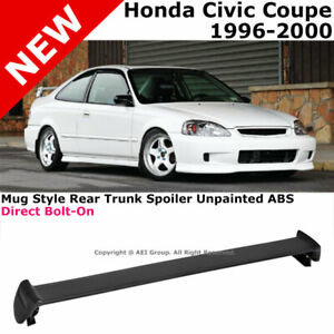 For Civic 2d 96 00 Rear Spoiler Trunk Lid Lip Wing Mug Style Jdm Trim Bolt On