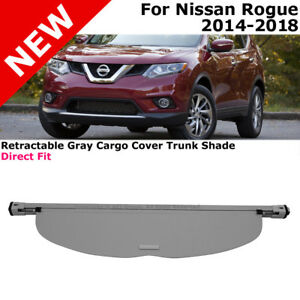 For Nissan Rogue 14 18 Retractable Gray Cargo Cover Rear Trunk Luggage Shade