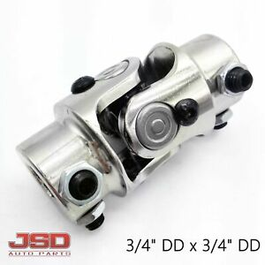 New 3 4 Dd X 3 4 Dd Chrome Universal Steering U Joint Hot Rat Street Rod
