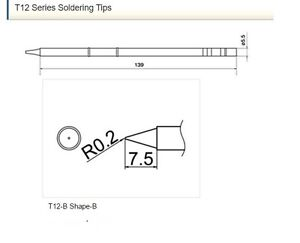 Hakko Japan T12 b 3pcs Soldering Tips Official Products