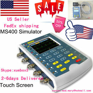 Us New Touch Multi parameter Patient Simulator ecg Simulator resp Temp Ibp Ms400