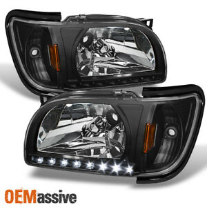 Fits 01 04 Toyota Tacoma Black Replacement Led 1pc Headlights Corner Signal Lamp