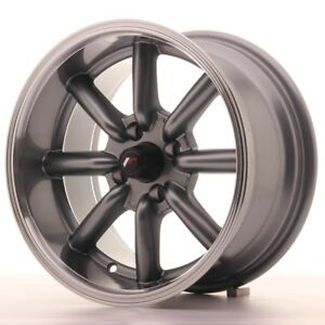 4x Japan Racing Jr19 15x8 Et0 4x100 Gunmetal Alloy Wheels Rs Watanabe