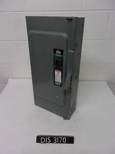 Ite 240 Volt 100 Amp Fused Disconnect Safety Switch dis3170
