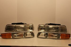 Chevy Tahoe Headlights Blinkers Side Markers 2000 2001 2002 2003 2004 2005 2006