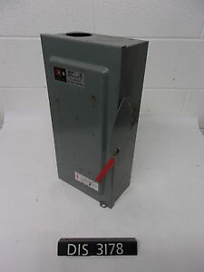 Cutler Hammer 240 Volt 100 Amp Fused Disconnect Safety Switch dis3178