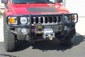 Grill Bumper Guard Black For 2006 2010 Hummer H3 2009 2010 H3t With Winch Mount