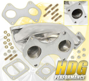 T4 T04 Turbo Charger Boost Exhaust High Flow Manifold Mazda Rx 7 Rx7 Fd 93 96