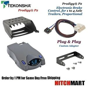Prodigy P2 Trailer Brake Control W Adapter For 15 17 Tundra 16 17 Tacoma 90885
