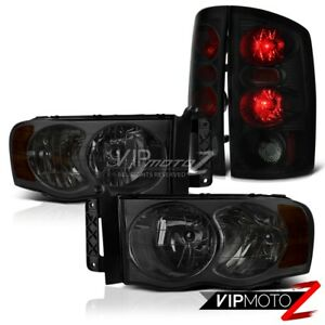 2002 2005 Dodge Ram 1500 2500 3500 sinister Black Smoke Headlight Tail Lights
