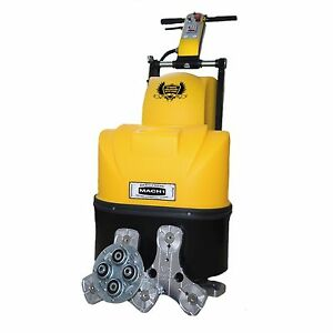 Concrete Genie Professional Floor Prep Machine 5 Hp Siemens Usa Motor Two Head