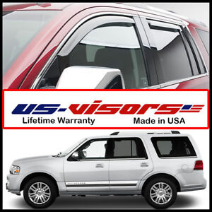 Us Visors 1998 2011 Lincoln Navigator Window Vent Visors In Channel Rain Guards