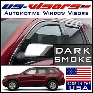 Us visors Window Vent Visors Guards In channel Fit 2011 2019 Jeep Grand Cherokee