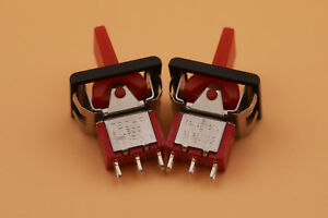 50pcs Red T80 r Momentary on off on 3pin Spdt Mini Paddle Toggle Switch