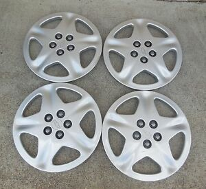 15 2000 01 02 Chevrolet Cavalier 5 Spoke Hubcaps Wheel Covers 9594640