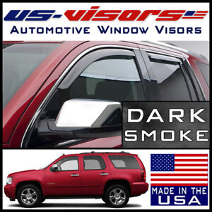 Us Visors 2007 2014 Chevy Tahoe Window In Channel Vent Visors Rain Guards 4 Pc