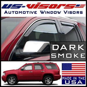 Us Visors 2007 2014 Chevy Tahoe Window Vent Visors In Channel Rain Guards 4 Pc
