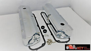 Ford Fabricated Tall Valve Covers Polished Aluminum 289 302 351w Sbf