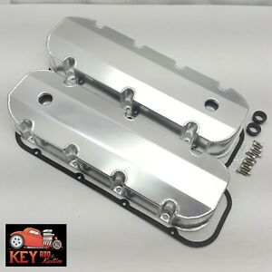 Big Block Chevy Satin Aluminum Fabricated Valve Covers Bbc 396 427 454 Gaskets