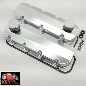 Bbc Fabricated Welded Satin Aluminum Valve Covers With Breathers 454 396 427