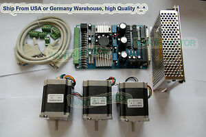 usa Ship No Tax nema23 Wantai Stepper Motor 270oz in 3a 3 Axis Cnc Cut Kit